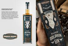 "2020 Jacksonville ADDY Awards — Gold Award ""Silver Dolphin Gin Label for Three Brothers Distillery"""