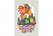 "2020 Jacksonville ADDY Awards — Silver Award ""AIGA Grizzly Bear Poster"""
