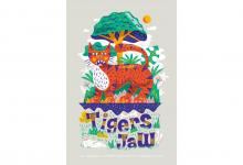 "2020 Jacksonville ADDY Awards — Silver Award ""AIGA Tigers Jaw Poster"""