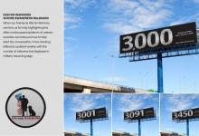 "2020 Jacksonville ADDY Awards — Silver Award ""Suicide Awareness Billboard for K9's for Warriors"""